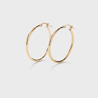 Large 14k Gold Hoops