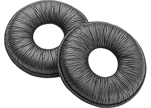 Plantronics Leatherette Doughnut Ear Cushion SupraPlus Black 2-Pack