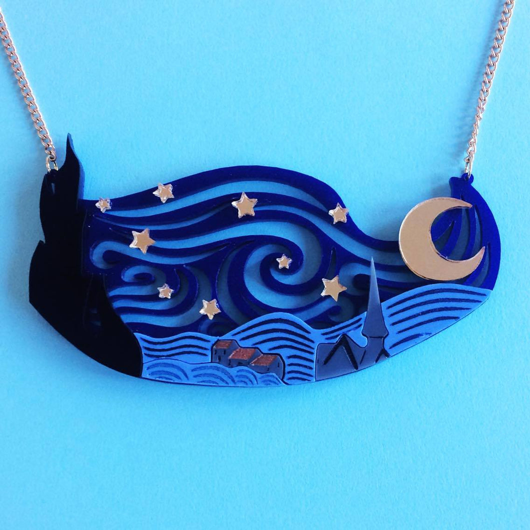 Ruby Owl Starry Night Necklace