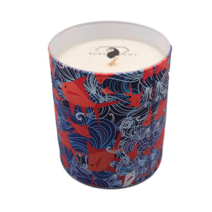 Ruby Owl Grapefruit and Mimosa Scented Candle 220g
