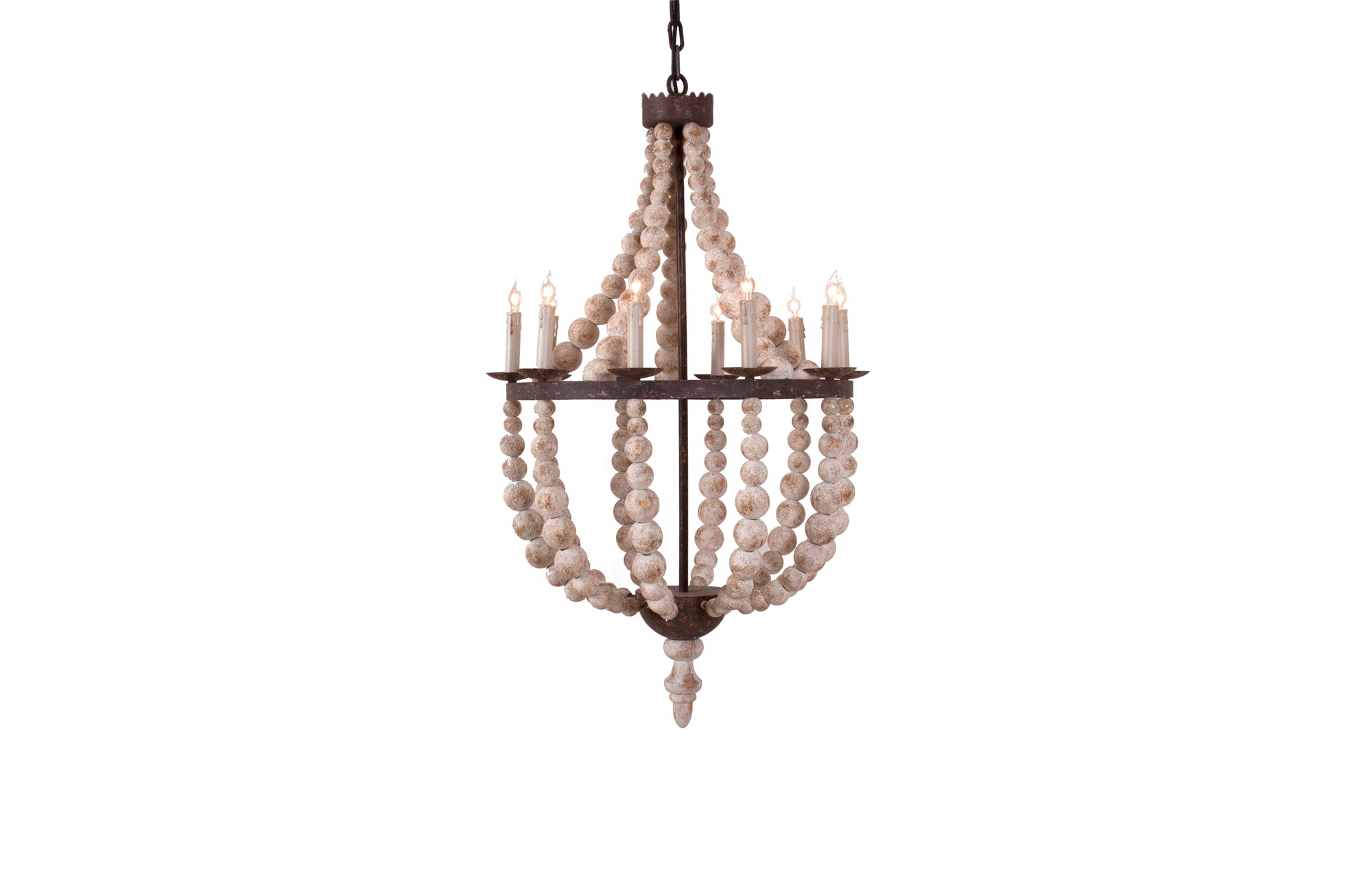 Atwater Chandelier (Distressed Gesso)