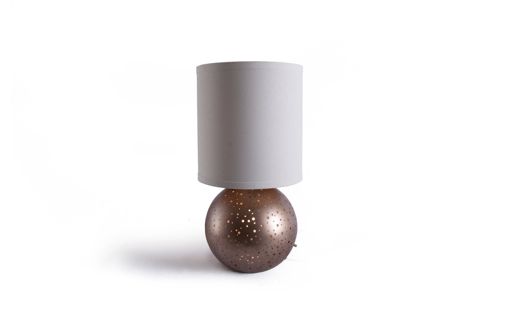 Vega Round Table Lamp (Rose Gold)