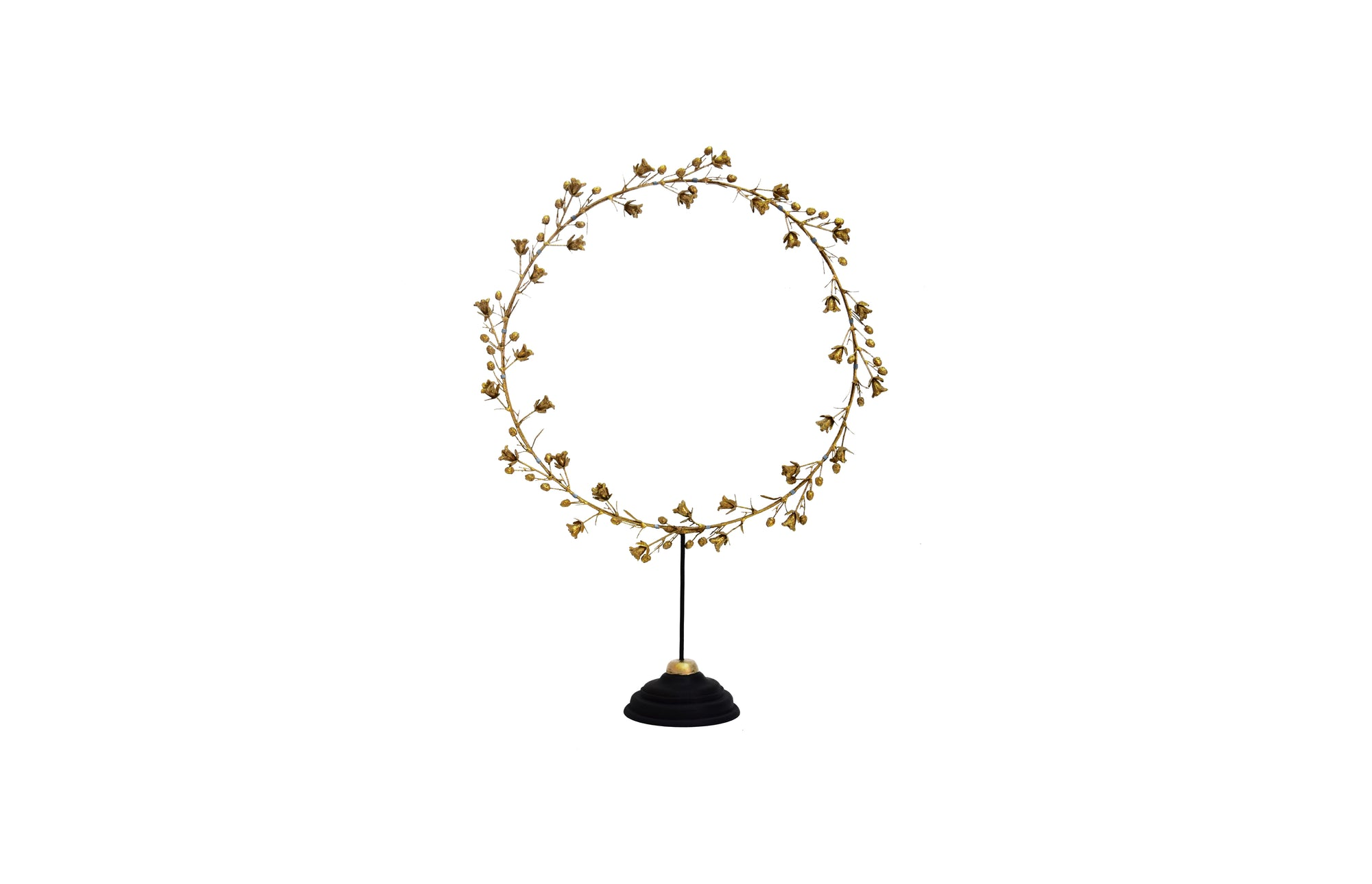 Bell Flower Wreath on Stand (S / Gold)