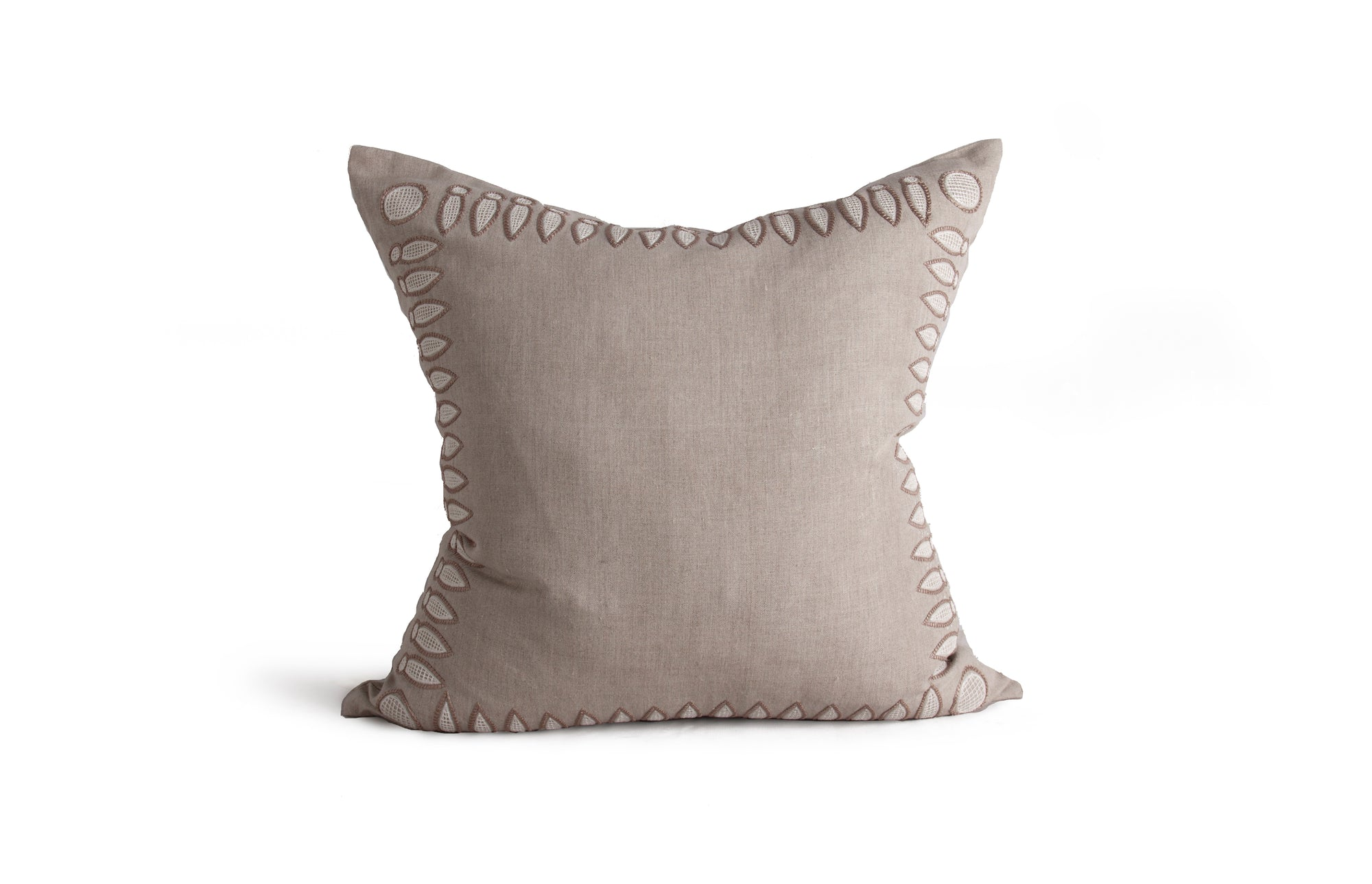 Basilica Pillow - Stone & Cream