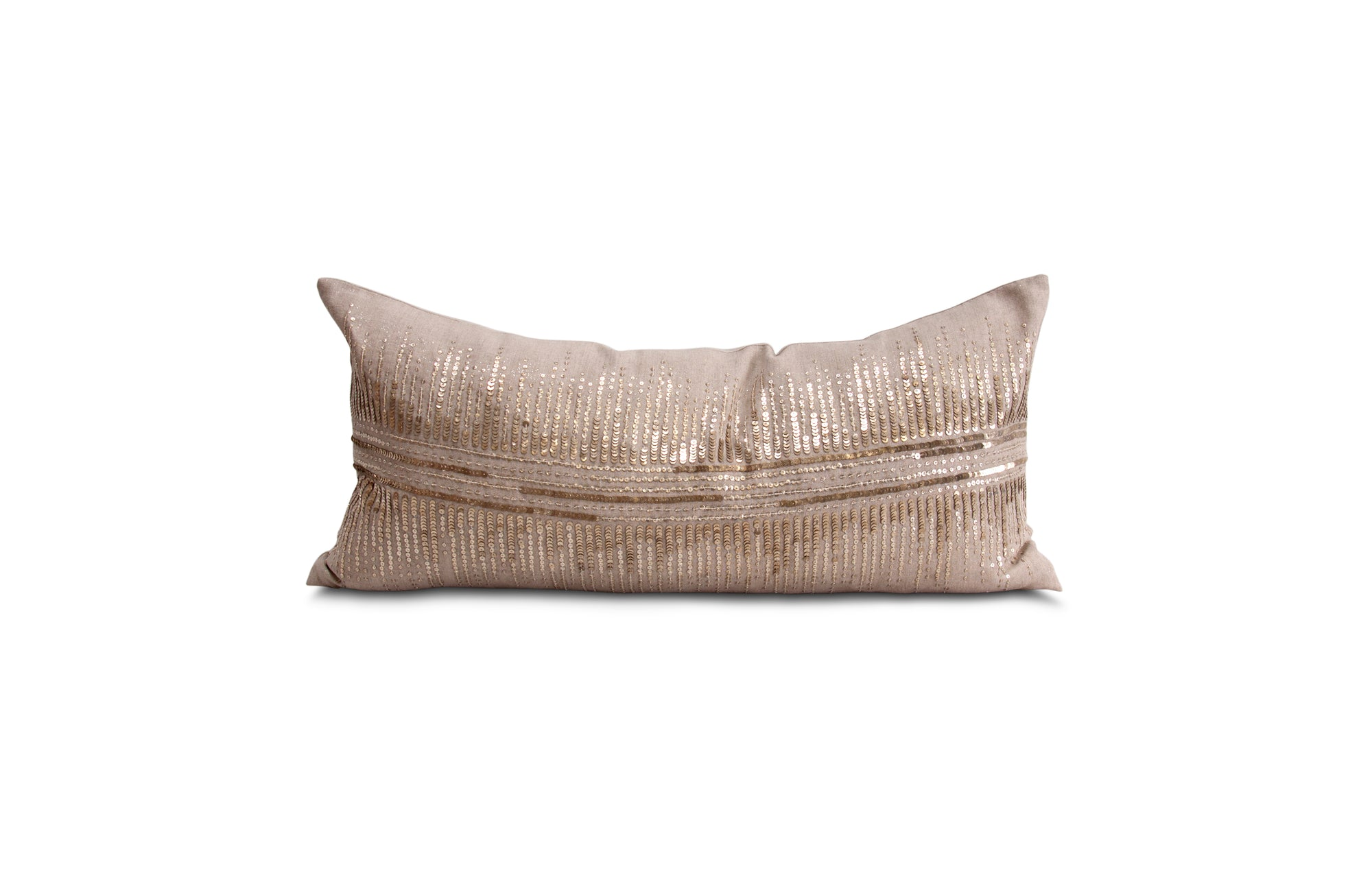 Vionnet Pillow - Champagne & Natural