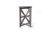 Saltire Accent Table (Black)