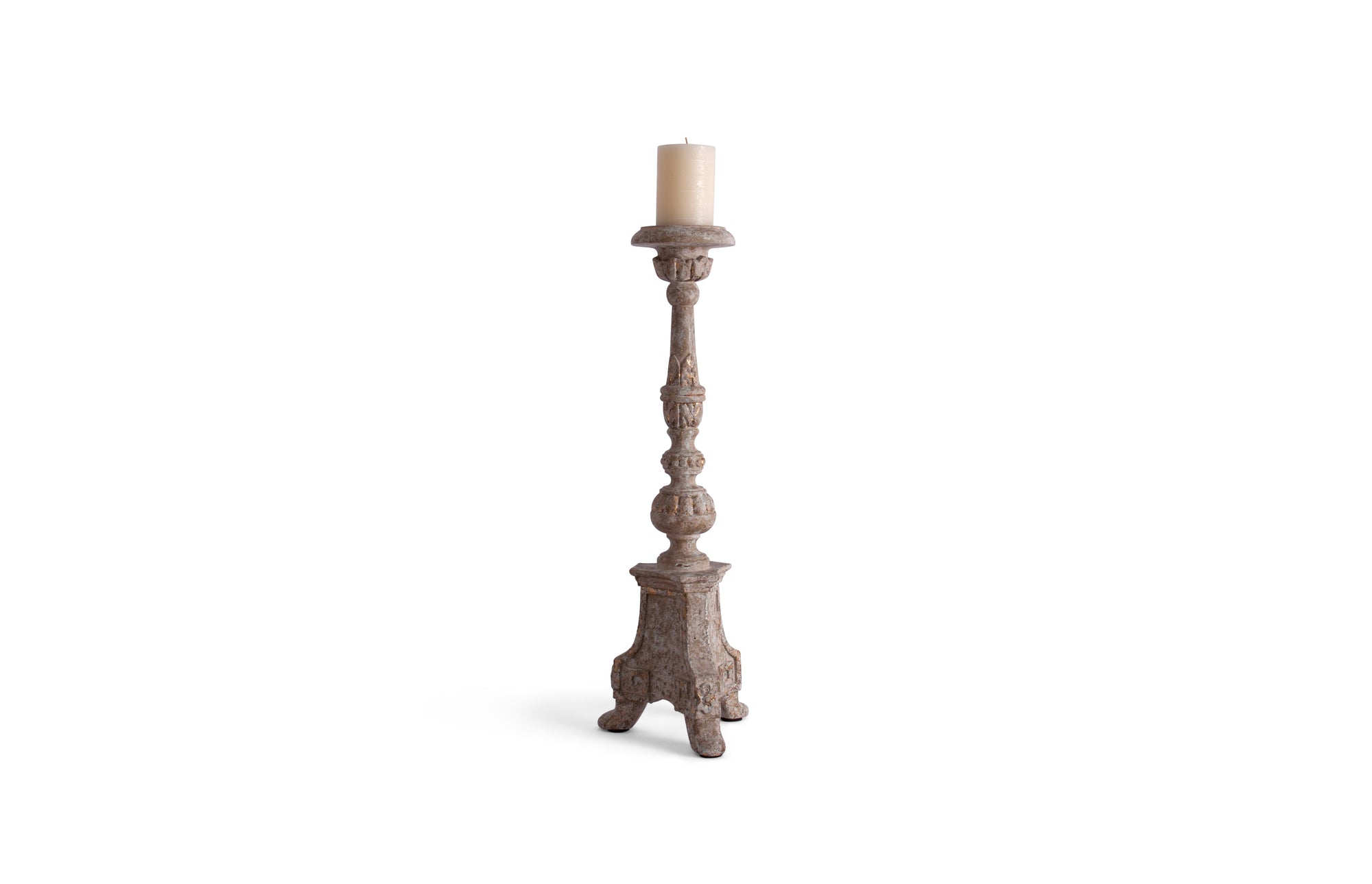 Scroll Legs and Ball Candlestick - 28""