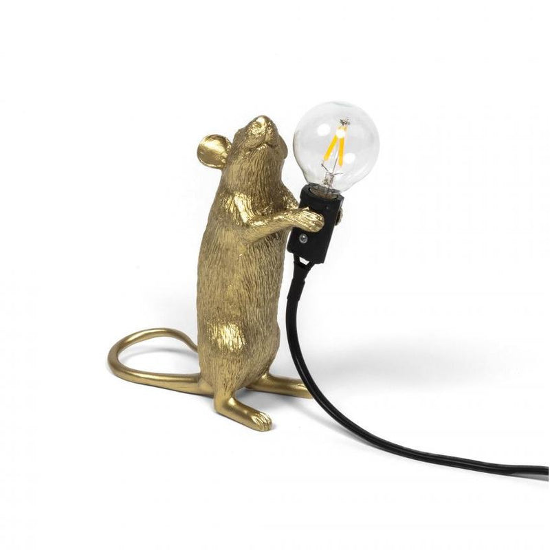 "Lampe ""Mouse Gold"" Version Debout"