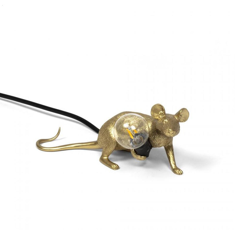 "Lampe ""Mouse Gold"" Version Couchée"