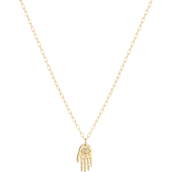 Collier Little Dharma's Hand Avec Diamants - blushconceptstore