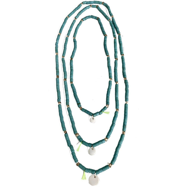 "Collier ""Barbara"" Turquoise - blushconceptstore"
