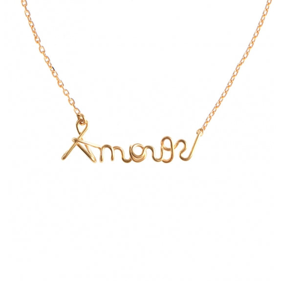 "Collier ""Amour"" Gold Filled"