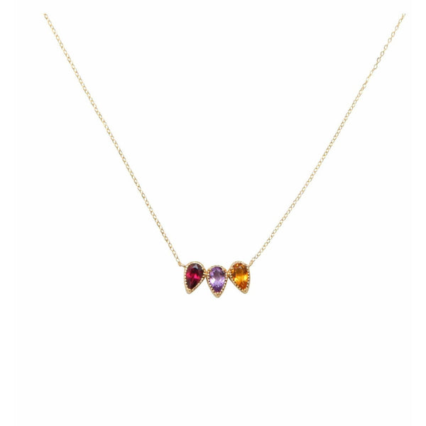"Collier ""Triple Charmed Cherry"" - blushconceptstore"