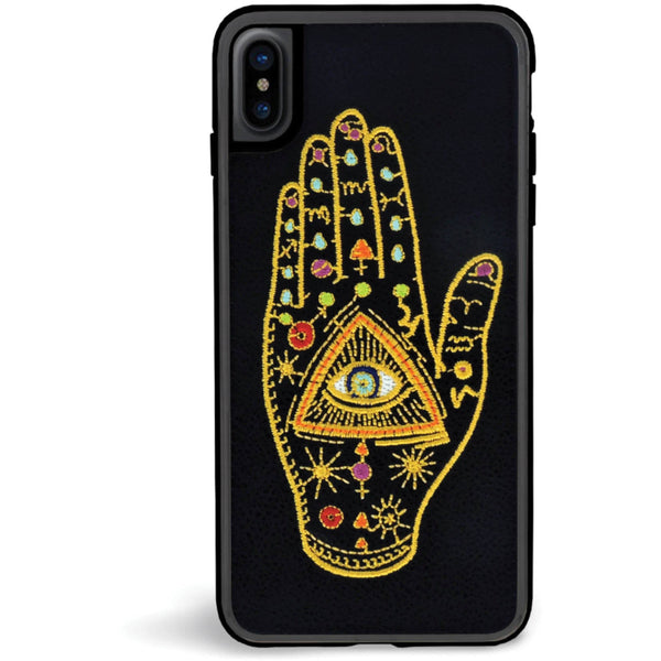 "Coque IPhone Cuir Et Broderies ""Behold"" - blushconceptstore"