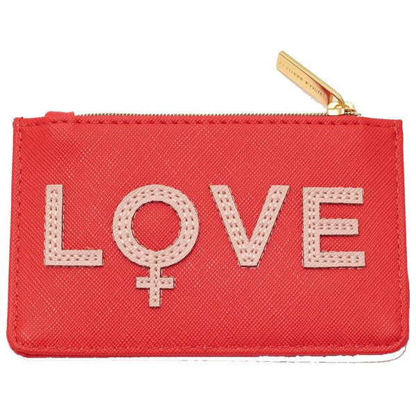 "Porte Cartes ""Love Corail"""