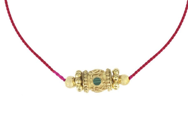 "Choker ""Rakhi One"" Malachite"