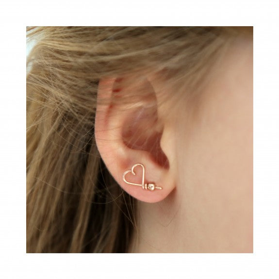"Pin's D'Oreille ""Mon Coeur"" Gold Filled"