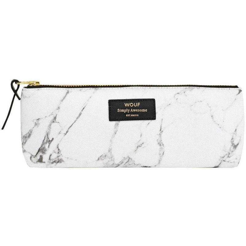 "Trousse School Pencil Case ""Marbre Blanc"""