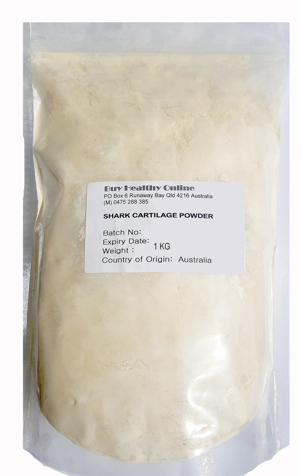 Shark Cartilage Powder 1kg BULK Australian Made