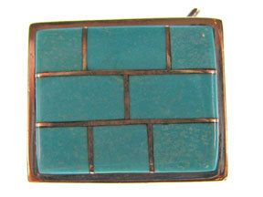 5-Strand Turquoise Rectangle Box Clasp