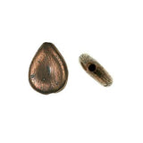 (bzbd123-9479) Bronze teardrop shaped bead - Scottsdale Bead Supply
