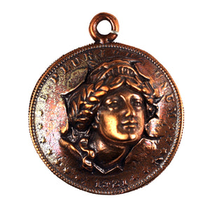 Bronze Liberty Head Dollar Pendant