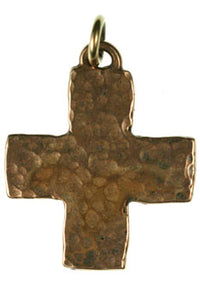 Bronze hammered texture cross