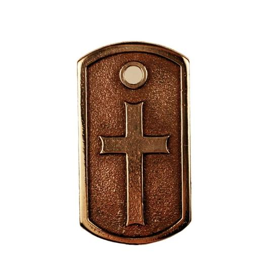 Bronze Cross Dog Tag