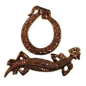 BZCT 8745 Bronze Snake and Lizard Toggle