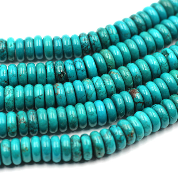10mm Turquoise Rondelles