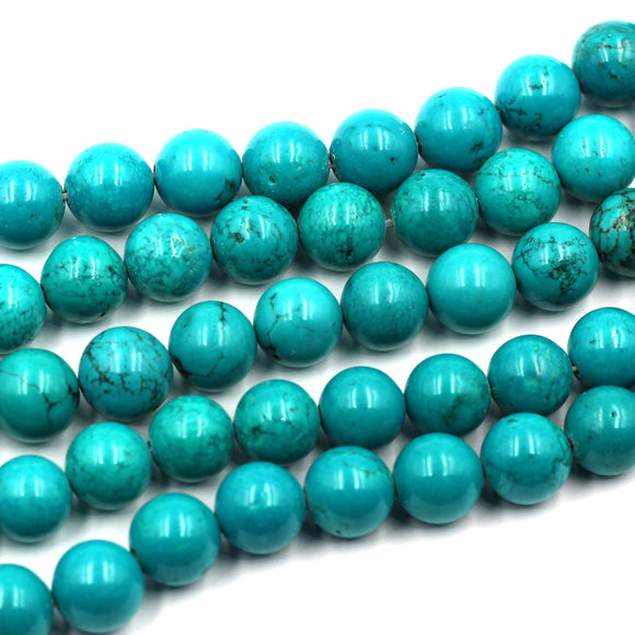 12mm round turquoise beads