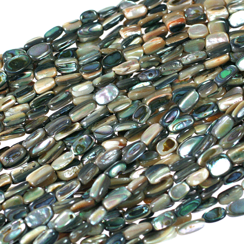 (abalone001) Abalone nuggets - Scottsdale Bead Supply