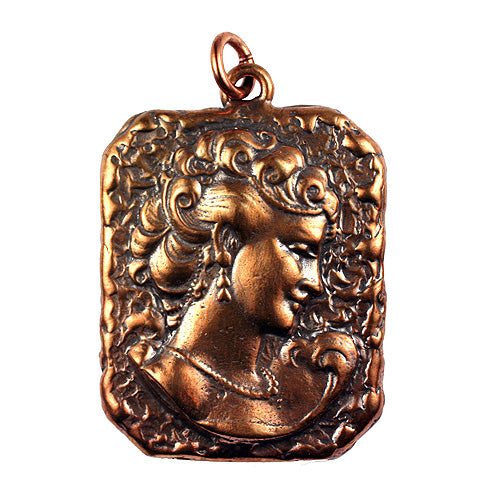 Bronze Lady Pendant