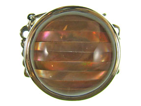 5-Strand Brown Lip Round Box Clasp