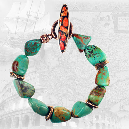 Turquoise and Bronze Bracelet Kit