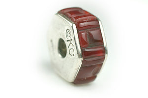 Inlay Hexagon 8 mm x 18 mm Carnelian