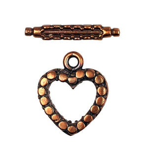 BZCT 8554 Bronze Heart Toggle
