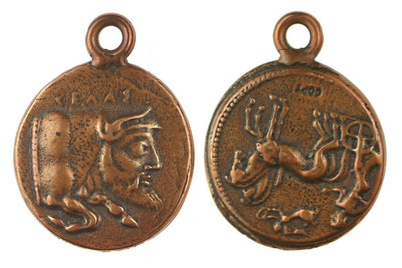 Bull w/mans head coin - Sicily (Reproduction)