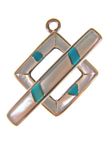 Mother-of-Pearl & Turquoise Toggle Set