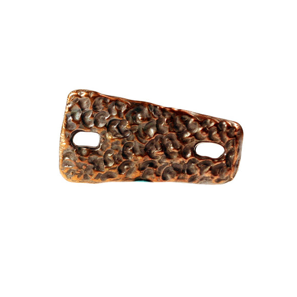 (bzbd137-N0078B) Bronze Textured Link - Scottsdale Bead Supply
