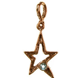Solid Bronze SC 5pt star with 6mm faceted stones.