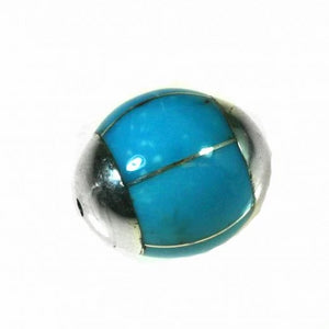 Turquoise Inlay Bead
