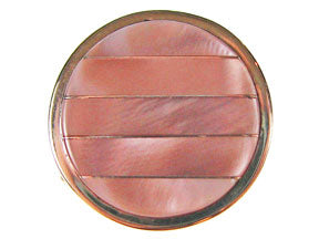 5-Strand Pink Mussel Shell Round Box Clasp