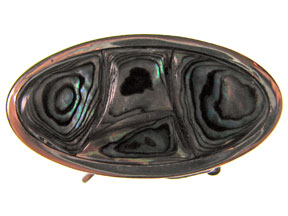 5-Strand Paua Shell Oval Box Clasp