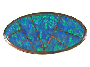 Box Clasp 5-strd Light Blue Synthetic Opal