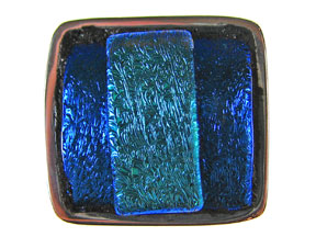Triple Blues Dichroic 5-Strand Inlay Clasp