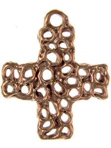 Solid Bronze AC design modern art cross