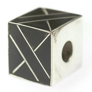 Inlay Cube 12mm3 Black Horn