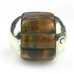 Inlay Round (no bars) 14 mm Tiger's Eye