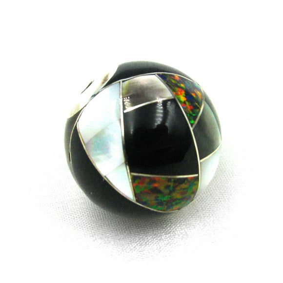 25mm Inlay bead by Kelly Charveaux